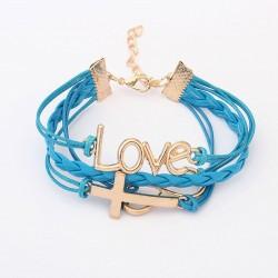 Romantic Password Love Cross Infinity Bracelet