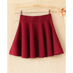 Sweet Elastic Waist Flared Dress&Skirt