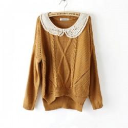 New Sweet Irregular Wool Sweater &Cardigan