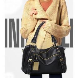 Vintage Lady Medium Top Rivet Handle Bag &Shoulder Bag