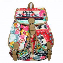 Folk Style Printed  Jacquard Leisure Backpack&Schoolbag