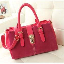 Fashion Frosted Leather Belt  Handbag& Messenger bag