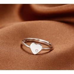 Creative Sterling Silver Eternal Love Rhinestone Ring
