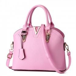 Elegant Women Simple Shoulder Bags Leather Messenger Bag Tote Purse Shell Handbag