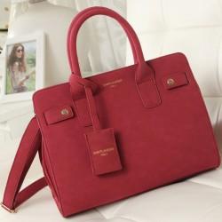 Sweet Vintage Matte Leather Handbag& Messenger bag