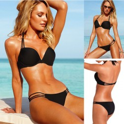 Sexy Pure Steel Care Sling Bikinis Women Swimsuit
