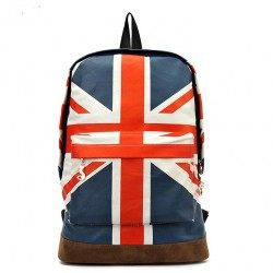 Fashion Canvas British Flag BackPack&Shoulder Bag&School Bag