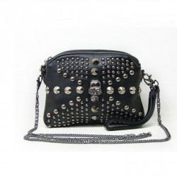 Punk Style Skull Rivet  Chain Shoulder Bag
