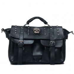 Vintage Black Skull Rivets Messenger Bag&Shoulder Bag