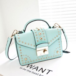 Fashion Rivet Mint Green Shoulder Bag&Messenger Bag