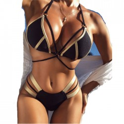 New Bronzing Splice Bikini Ladies Sexy Women Summer Swimsuit