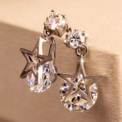 Fashion Elegant Star Zircon Earring