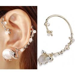 Punk Luxury Elephant Long Branch Clip Earring