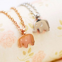 18K Gold Plated Elephant Necklace/Birthday Gift