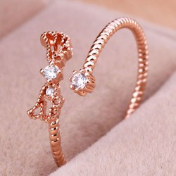 Unique Hollow Angel Wings Twist Open Ring