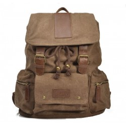 Multi Pocket Canvas Computer Bag Travel Bag Backpack