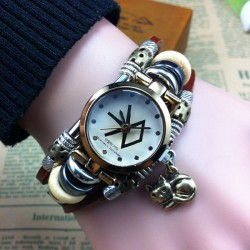 Original Cat Charm Steel Bracelet Watch