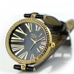 Vintage Polymer Clay Roman Mumerals Rhinestone Quartz Watch