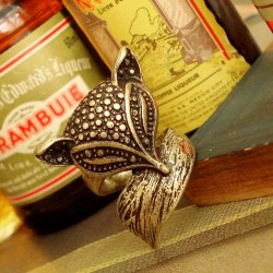 Silver Fox Wrap Ring - SIZE 5