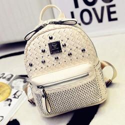 Fashion Woven Rivet Mini Backpack