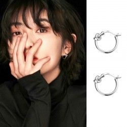 Original Knotted Ring 925 Silver Tie Earrings Jewelry Gift For Her Dangler Earrings
