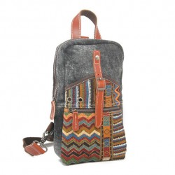 Special Folk Pattern Canvas Hasp Chest Bag Messenger Shoulder Bag