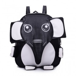 Super Cute Panda Elephant Kitten-shaped School Bag Mixed Colors Backpack