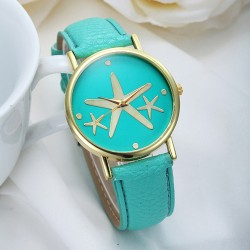 Nice Elegant Starfish Metal PU Watch