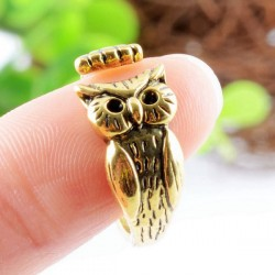 Refined Vintage Alloy Carving Owl Original Opening Ring