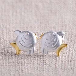 Sweet Kiss Fish Lovers 925 Silver Scrubs Original Earring