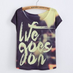 Original We Goes On Printed Women T-Shirts