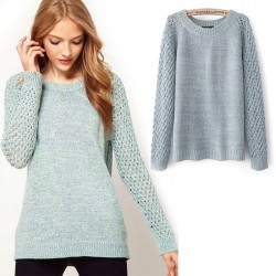 Fashion Back Hollow Twist Sweater & Cardigan