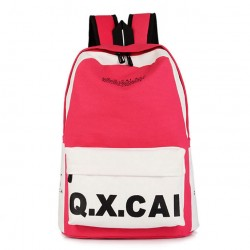 Fashion Simple Canvas Backpack & School Bag