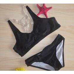 Hand Knitted Swimsuit Lace Bikini Set Swimwear Beach Bathingsuit