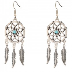 Retro Dreamcatcher Feather Tassels Women's Vintage Earring Studs Eardrop