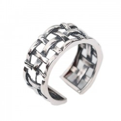 Vintage 925 Sterling Silver Women Open Weave Knot Rings