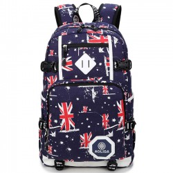 Cool UK Flag Oxford Camouflage Large Student Travel Bag Men Camping Laptop Backpack