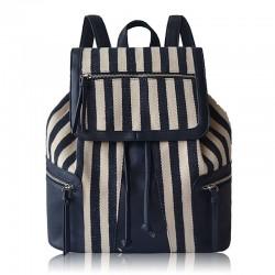 Fashion New Classic Pope Splice Striped Diamond Backpack