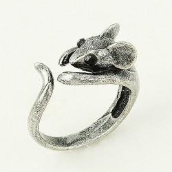 Cute Mouse Opening Animal Wrap Rings