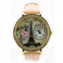 Romantic  Eiffel Tower Polymer Clay Watch