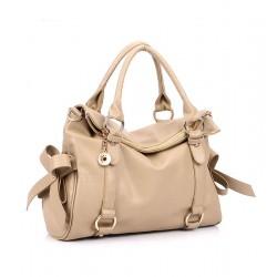 Elegant Beige Bow Temperament Handbag&Shoulder Bag