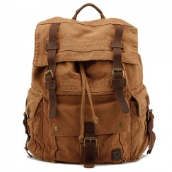 Vintage Large Travel Backpack Hiking Outdoor Rucksack Thick Canvas Schoolbag Backpack