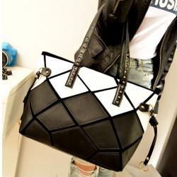 Leopard Contrast Color Splice Handbags