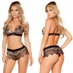 Sexy Bra Set Underwear Pants Lace T-pants High Waist Sling Women Intimate Lingerie