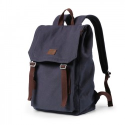 Retro Double Strap School Bag Canvas Large Backpack Man Travel Rucksack