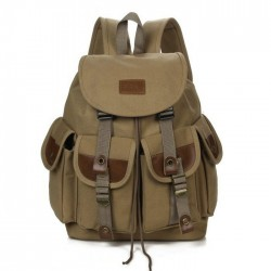 Leisure Four Pockets Outdoor Large Travel Rucksack Sport Backpack Men Canvas Backpack