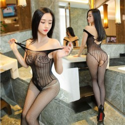 Sexy Underwear Hollow Vest Siamese Fishnet Mesh Conjoined Stockings Intimate Lingerie