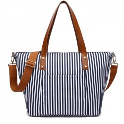 Leisure Beach Stripe Shoulder Bag Fashion Stripes Large Canvas Women Handbag