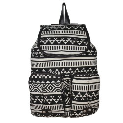 Vintage Owl Pattern Geometry Travel Backpack