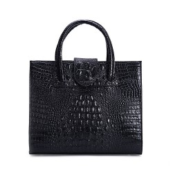 Elegant Crocodile Printed Leather Handbag &Shoulder Bag